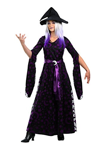 Fun Costumes Purple Moon Witch Costume Large - Button Moon Costume
