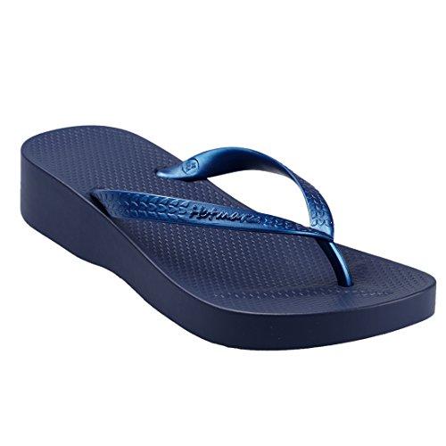 Hotmarzz Chanclas para Mujer Zuecos Sandalias Plataforma Cu?a de Verano Playa Azul