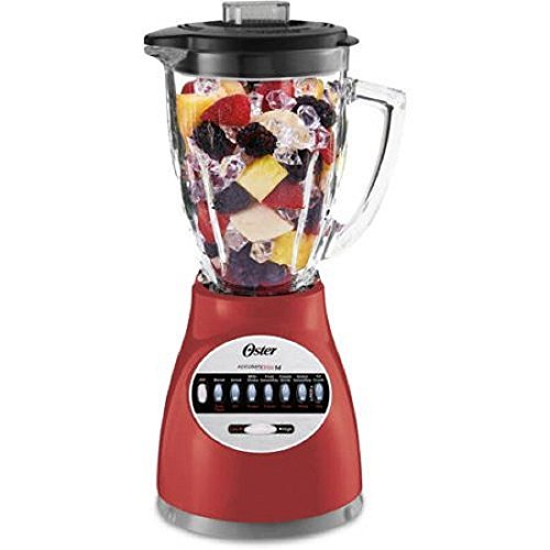 (Oster Blender 14 Speed with Glass Jar 6694-R Red)