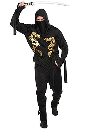 Magic Box Traje de Guerrero Ninja Guerrero Negro Std. (up to ...