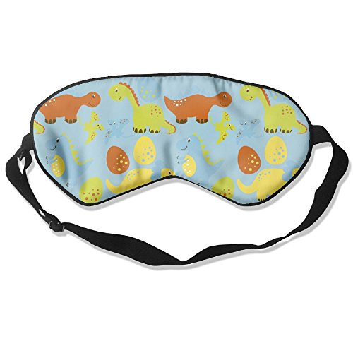 MB32 Sleep Mask Cartoon Dinosaur Eye Cover Blackout Eye Masks,Soothing Puffy Eyes,Dark Circles,Stress,Breathable Blindfold For Women Men by MB32