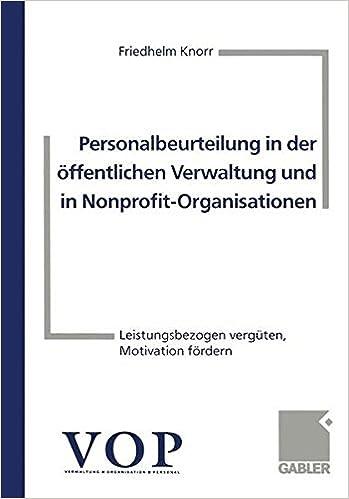 Personalbeurteilung in der öffentlichen Verwaltung und in Nonprofit ...