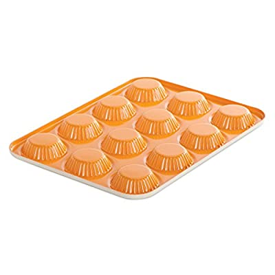 Nordic Ware 41422 12-Cavity Quiche and Tart Pan, Mini, Colors Vary