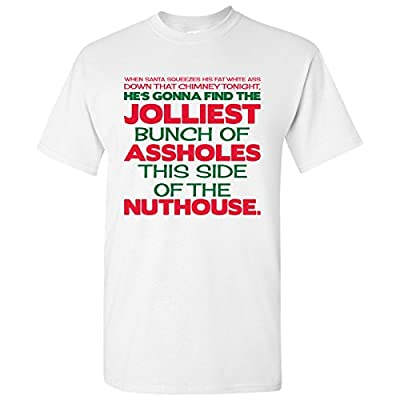 UGP Campus Apparel Jolliest Bunch of A-Holes - Funny Movie Winter Adult Basic Cotton T-Shirt