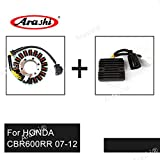 Arashi Engine Stator Coil and Voltage Regulator for HONDA CBR600RR 2007-2012 Motorcycle Replacement Accessories Rectifier CBR 600 RR CBR600 600RR 2008 2009 2010 2011