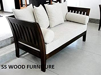 Tremendous Ss Wood Furniture 3 1 1 Sheesham Wooden 5 Seater Sofa Set With Cushion Brown Unemploymentrelief Wooden Chair Designs For Living Room Unemploymentrelieforg