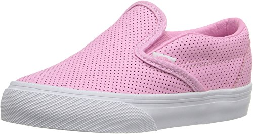 (Vans Toddlers Slip-On (PERF Leather) Prism Pink VN000ZCRKDC Toddler Size 6.5)