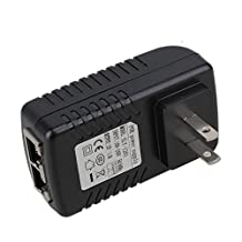BQLZR PoE Injector Ethernet Power Adapter 12V 1A Data in / Data Power Out Power Supply American Standard