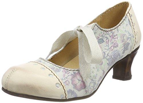 Mujer Tacón Cerrada Nieve con Zapatos para Rovers Punta Nieve Blanco de Weiß X6q0wxZ