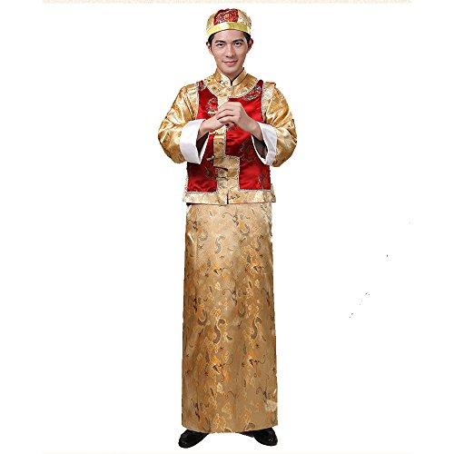 (The Qing Dynasty Costume/The King's Casual/Ancient Chinese Cosplay/Chinese Emperors Clothing/New Year's Clothes/Halloween Costume/Campus Party Dress/Spring Festival Cultural Traditional)