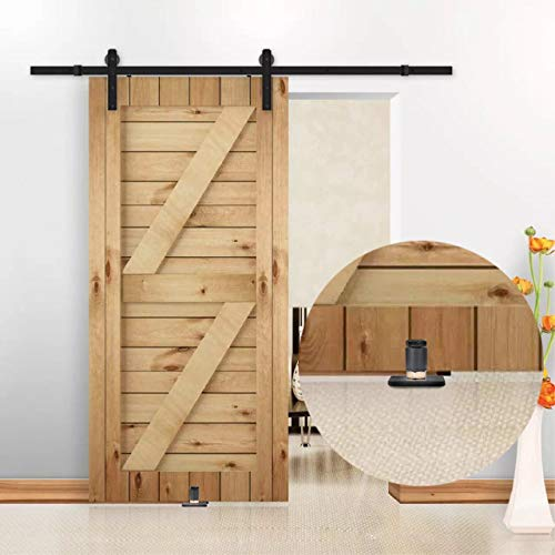 New Design!Barn Door Floor Guide,Wall Mounted Stay Roller Guides Flush to Floor, Ultra Smooth Fully Adjustable Channel,Bottom Floor Guide for All Sliding Barn Door Hardware (2 Pack,Screws and Anchor) by HIIMIEI (Image #6)