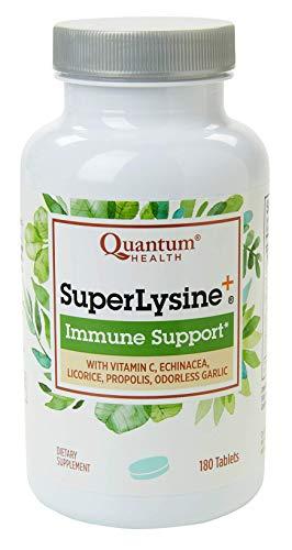 Quantum Health Super Lysine+ / Advanced Formula Lysine+ Immune Support with Vitamin C, Echinacea, Licorice, Propolis…