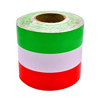 fangfei 6 inches Wide Italian Italy French Germany Flag Stripe Decal Sticker for Car Exterior Cosmetic, Hood, Front/Rear Bumpers, Side Fenders: Automotive