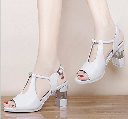 Match Fish Korean Thirty Heels Shoes After Heel KPHY Strappy All With Shoes nine Summer Mouth Thick qnaf8Xx