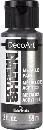 DecoArt DPM09-30 Extreme Sheen 2 Oz Paint, Tin Extreme Sheen Paint (Metallic Sheen Finish)