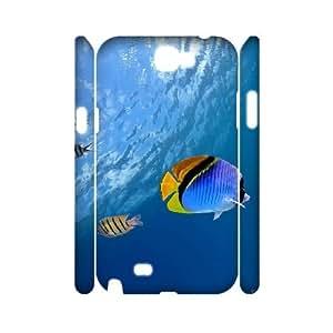 LSQDIY(R) The underwater world Samsung Galaxy Note 2 N7100 3D Cover Case, DIY Samsung Galaxy Note 2 N7100 3D Case The underwater world
