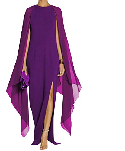 Pencil Long Dress Solid Chiffon Purple Sleeveless Colored Elegent Premium Bodycon Women Coolred qwZ8zz