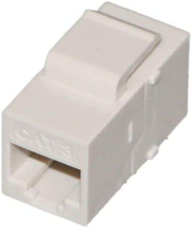 Cables 2 Pieces UTP Cat 3 Inline Coupler Fluke Passed Network Keystone Jack for Cable,Plug,Patch Panel Cable Length: White
