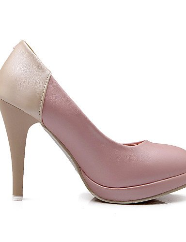 GGX/Damen Schuhe PU Sommer-/, Round Toe Heels Büro & Karriere/Casual Stiletto Heel Split Gemeinsame blau/pink/beige pink-us7.5 / eu38 / uk5.5 / cn38