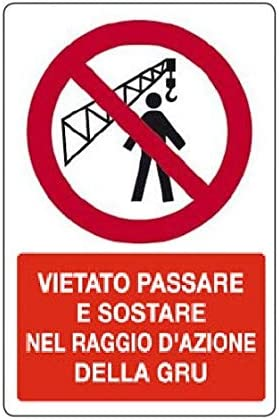 Cartellonistica Schild Schild Schild Warnschild aus Aluminium 50 x 33 cm – Vietat Schritt oder nachhaltig in der Aktion der Gru