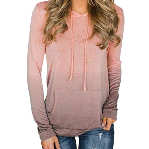 (Mikey Store Women Pocket Long Sleeve Hoodies Sweatshirt Pullover)