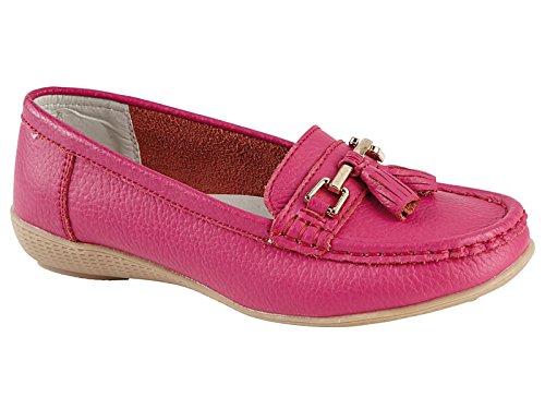 Foster Footwear - Mocasines de Piel para hombre Rosa - rosa