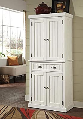 SJ Collection B21200001 Ashlyn Cabinet White Finish, Large, Distressed