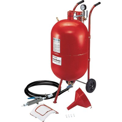 Allsource Roll-About Abrasive Blaster with FREE U.S. Patented Deadman Handle - 20 Gallons