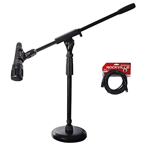 Dynamic Dual Element Instrument Microphone - Audio Technica ATM650 Guitar/Snare/Percussion Instrument Microphone+Boom+Cable