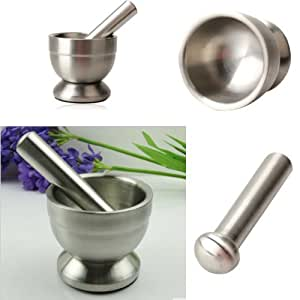 EUBEST Mortar and Pestle, Stainless Steel