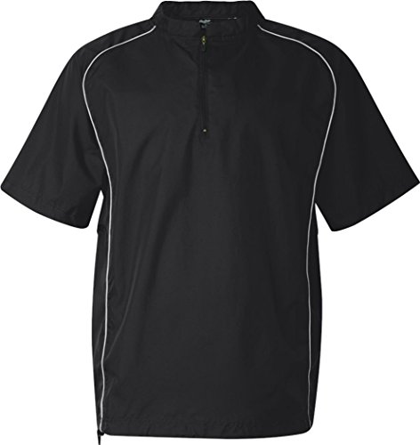 Rawlings Adult Quarter-Zip Short Sleeve Dobby Jacket With Pi