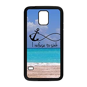Sea Beach I Refuse To Sink Black samsung galaxy s5 case