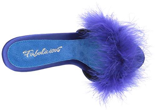 Blue 501f Fur Poise Blue FABULICIOUS Satin 501f Donna Poise marabou qzxBHSw