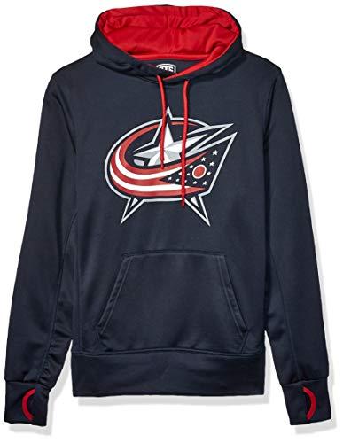 OTS NHL Columbus Blue Jackets Men's Hoodie Pullover, Logo, Medium