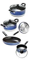Cookware set 8 PCS Agata glass LID SALCAR