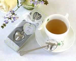 """Tea Time"" Heart Tea Infuser in Tea-Time Gift Box - Set of 25"