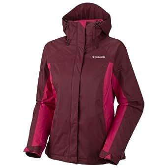 Columbia Women's Arcadia Rain Jacket, Elderberry/Rouge, X-Large
