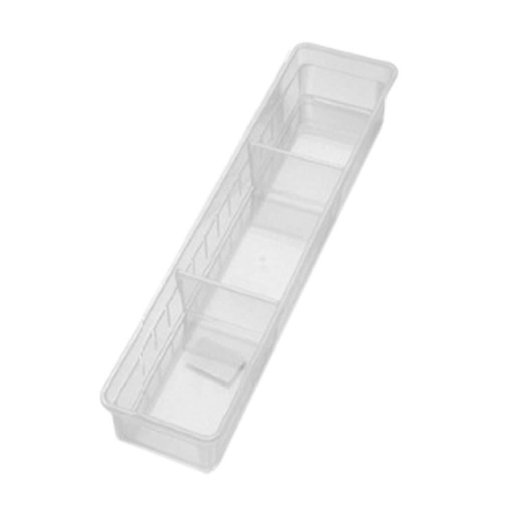 Clear, 34.8x8x5cm Onefa New Kitchen Article Storage Home Kitchen Board Divider Tool Box Supporting Adjustable Storage Box Drawer Organizer Box