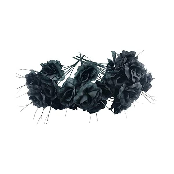 Artificial Black Roses Bouquet (One pack of 4 Bouquets)
