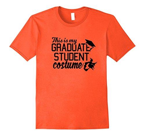 [Mens Graduate Costume October College Graduation T Shirt Medium Orange] (College Graduate Halloween Costume)