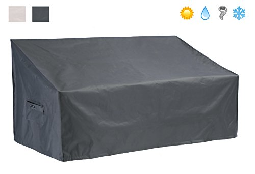 Patio Watcher Patio Loveseat/Sofa Cover All Weather Protective Patio Furniture Sofa Cover with Secure Buckle Straps 58 Inches(Grey) (Covers Outdoor Bench Seat)