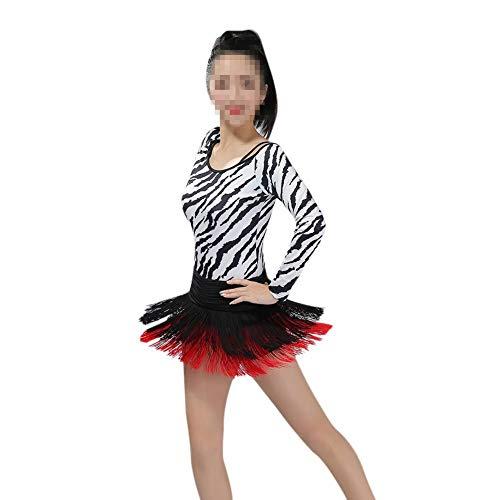 Excellent avec Cha Jupe Latine Paso Passionn Zumba Rouge Noir Effet pour de Femme RUIBUY Costume Cha Doble trmousser Rumba Franges Doubles Salsa avec Shorts Cha Adwx4ZX