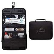 Hanging Travel Toiletry Bag,Wash Bag Portable Make Up Bag for Women,Large Capacity Cosmetic Bag Perfect for Travel/Daily…