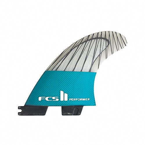 FCS II Performer Performance Core Carbon Thruster Fin X Large Teal - Thruster Fin