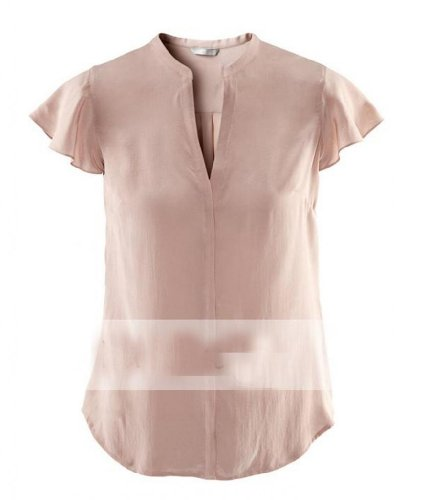 WIIPU womens silk blouse with invisible button decoration (J2-48)-Small beige
