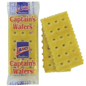 Lance Captains Wafers, 2 Crackers per pack (Pack of 500)