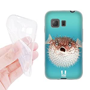 Head Case Designs Frontal View of Porcupinefish Famous Animals Soft Gel Back Case Cover for Samsung Galaxy Young 2 G130 by icecream design