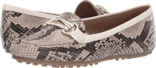Aerosoles Women's Along Driving Style Loafer, Tan Snake, 7.5 M US