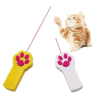 SOOKOO Pack of 2 Paw Style Cat Catch the Interactive LED Light Pointer Exercise Chaser Toy Pet Scratching Training Tool
