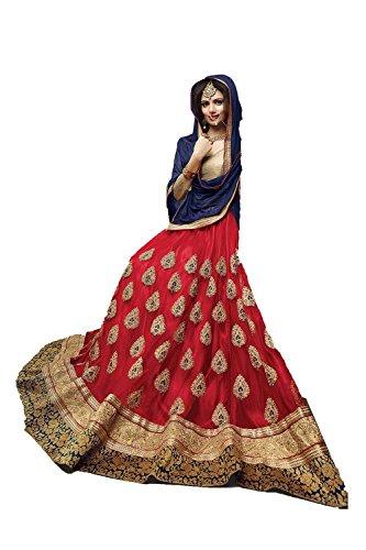 Da Facioun Indian Women Designer Wedding Red Lehenga Choli Fabz-2071
